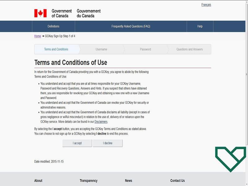 شرایط استفاده از حساب کاربری کانادا