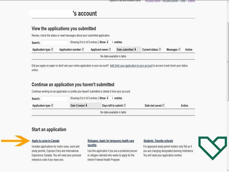 شروع درخواست ویزای توریستی کانادا