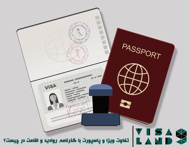 تفاوت ویزا و پاسپورت با گذرنامه، روادید و اقامت در چیست؟